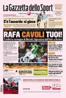 La prima pagina de La Gazzetta dello Sport